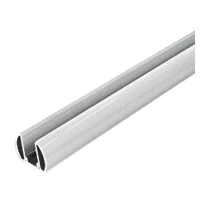 "CRL BR48S Metallic Silver AWS 48"" Bottom Rail"