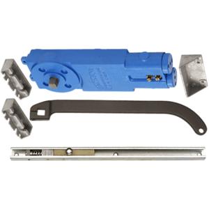 Dark Bronze Adjustable Spring Power Multi Size 105 Hold Open Overhead Concealed Closer with 'U' Offset Slide-Arm Hardware Package