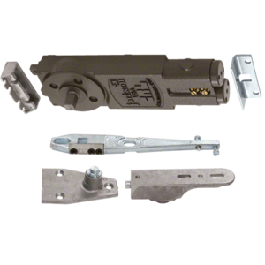 """Heavy-Duty Spring 7/8"""" Extended Spindle 90 Hold Open Overhead Concealed Closer With """"S"""" Side-Load Hardware Package"""