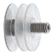 "CRL LPC2BS Brushed Stainless Low Profile Standoff Cap Assembly for 2"" Standoff Bases"