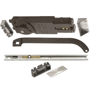 Regular Duty Spring 105 Hold Open Overhead Concealed Closer With 'U' Offset Slide-Arm Hardware Package Dark Bronze