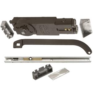 Regular Duty Spring 105 No Hold Open Overhead Concealed Closer with 'U' Offset Slide-Arm Hardware Package Dark Bronze