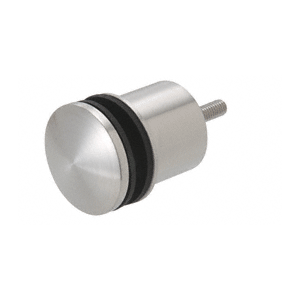 """CRL RS0B2135BS Brushed Stainless 2-3/8"""" x 1-3/4"""" Point Supported Standoff Base and Domed Cap"""