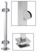 """CRL SPR36LPS Polished Stainless 36"""" Steel Square Glass Clamp 90 Degree Corner Square Post Railing Kit"""