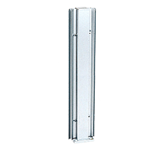 "Brite Anodized 18"" 45 Degree Center Design Series Partition Post"