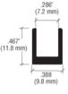 """CRL D990BA2445C Brite Anodized 24"""" 45 Degree Center Design Series Partition Post"""