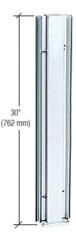 """CRL D990BA3045C Brite Anodized 30"""" 45 Degree Center Design Series Partition Post"""