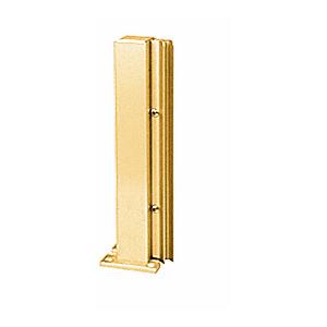 "Brite Gold Anodized 12"" 135 Degree LH Center Design Series Partition Post"