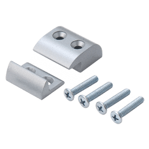 Satin Aluminum Stabilizer Package for 896 Removable Mullion - Single Door