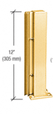 "CRL D990BGA12135R Brite Gold Anodized 12"" 135 Degree RH Center Design Series Partition Post"