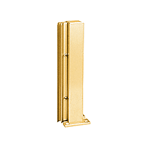 "Brite Gold Anodized 12"" 135 Degree RH Center Design Series Partition Post"