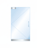 CRL BP4PS12SL Dry Glazed Frameless Glass 3' BP-Style Polished Stainless Single Door Only Kit - with Lock