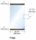 """CRL P4DU12SL Black Bronze Dry Glazed Frameless Glass 3'-0"""" P-Style Single Door Only Kit - with Lock"""