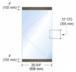 "CRL P4DU12S Black Bronze Dry Glazed Frameless Glass 3'-0"" P-Style Single Door Only Kit - without Lock"