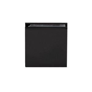 CRL SGCU1MBL Matte Black Square Style Notch-in-Glass Fixed Panel U-Clamp