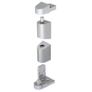 CRL 0P40011R Aluminum Right Hand 0P400 Top and Bottom Pivot Set