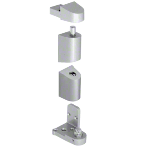 CRL 0P40011L Aluminum Left Hand 0P400 Top and Bottom Pivot Set