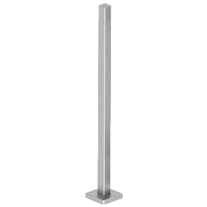 "CRL SPR42BBS Brushed Stainless 42"" Square Blank Post Railing Kit"
