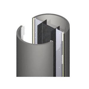 CRL ECR40CC Custom Color Standard Series Round Column Covers Four Panels Opposing