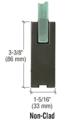 "CRL Blumcraft 25P12BS Brushed Stainless 250 Series Door - 1/2"" Glass"