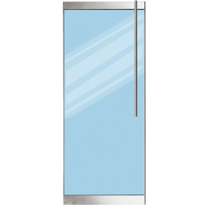 """Brushed Stainless 250 Series Door - 1/2"""" Glass"""