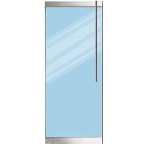 "Brushed Stainless 250 Series Door - 3/4"" Glass"
