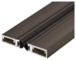"""CRL-U.S. Aluminum 29310DS84 84"""" Split Astragal with Silicone Bulb Seal Bronze Anodized"""