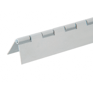 "CRL 6D667A Satin Anodized 1/2"" Aluminum Piano Hinge - 72"" Stock Length"