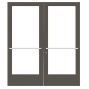 CRL-U.S. Aluminum CD42722 Bronze Black Anodized Custom Pair Series 400 Medium Stile Center Pivot Entrance Door for Overhead Concealed Door Closers