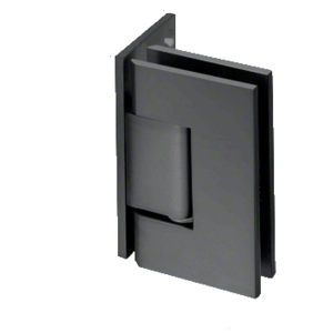 CRL GEN044MBL Matte Black Geneva Series Wall Mount Offset Back Plate Hinge