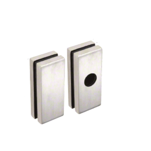 CRL 1900LPBS Brushed Stainless Low Profile Glass Mounting Pads for 1900 Series Rim Panic