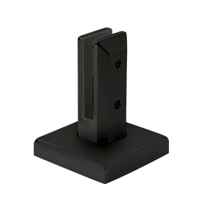 CRL FWCS20MBL Matte Black Finish Surface Mount Friction Fit Square Spigot
