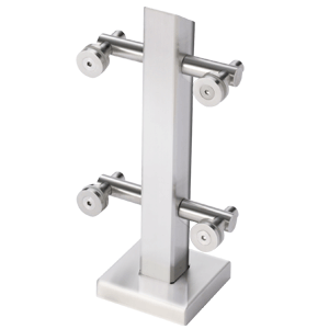 CRL PWC1CPS Polished Stainless Point Supported Center Post