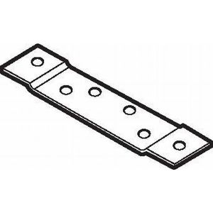 """Don Jo HR-150 Door or Frame Reinforcement for 5"""" Heavy Weight (.190"""") Hinge, 1/8"""" Offset, 1-1/2"""" x 10"""" 7 Gauge Steel, Prime Coat"""