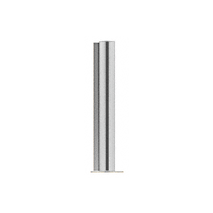 "CRL PP0824LBS Brushed Stainless 24"" Round PP08 Elegant Series Counter/Partition Corner Post"