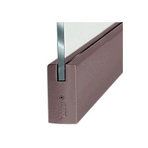 "CRL DR4SDU12S Black Bronze 1/2"" Glass 4"" Square Door Rail Without Lock - 35-3/4"" Length"
