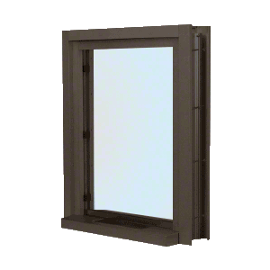 """CRL C01W2436DU Dark Bronze 28"""" Wide Bullet Resistant Interior Window With Surround Sound and 12"""" Shelf With Deal Tray"""
