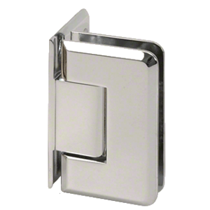 CRL P1N044PN Polished Nickel Pinnacle 044 Series Wall Mount Offset Back Plate Hinge