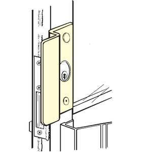"""Don-Jo OLP-2650-DU 2-5/8"""" x 6-1/2"""" Latch Protector for Center Hung Outswing Aluminum Doors 1-1/8"""" Offset Dark Bronze Finish"""
