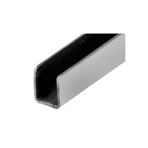 """CRL SAC14BS Brushed Stainless 1/4"""" Radiused Back U-Channel - 144"""""""