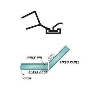 U.S. Horizon Mfg., Inc. P135DJ-38 135 Degree Polycarbonate Door Jamb Fits For 3/8 Inch Glass
