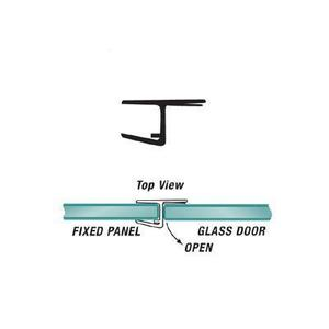"U.S. Horizon Mfg., Inc. PHJC-516 180 Degree ""H"" Strike Jamb Fits 5/16 Inch Glass & W/Cushion Fin"