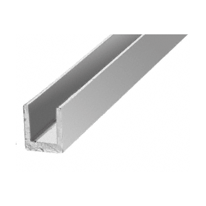 "CRL D631BA Brite Anodized 1/4"" Single Aluminum U-Channel"