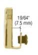 CRL EH222 Brass Door Mounted Strike Plate