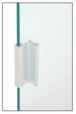 """CRL D646A Satin Anodized 6"""" Aluminum Pull with 7/16"""" Lip for Sliding Glass and Panel Door"""