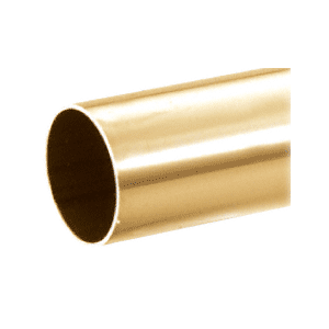 "CRL HR20PB Polished Brass 2"" Diameter Round .050"" Tubing - 216"""
