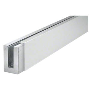 "CRL BSCSA10 Satin Anodized 120"" Cladding for B5S Series Standard Square Aluminum Base Shoe"