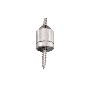 CRL CB84 Chrome Plated Short Round Floor Base Fitting for Cable Display System