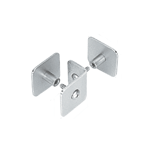 CRL PB010PS Polished Stainless Bullet Resistant Protective Barrier System Top or Mid-Mount Buttress or Baffle Clamp
