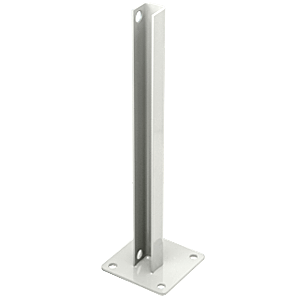 CRL PSB2BW Sky White AWS Steel Stanchion for 90 Degree Round Corner Posts